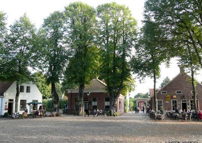 Marktplatz Festung Bourtange in den Niederlanden